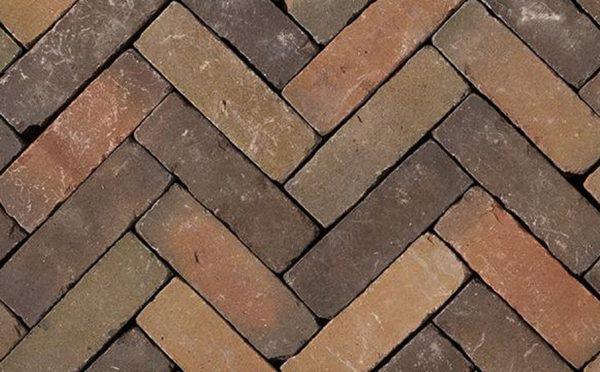 Клинкерная тротуарная брусчатка Penter Varoton mix wasserstrich tumbled, 200*65*65 мм