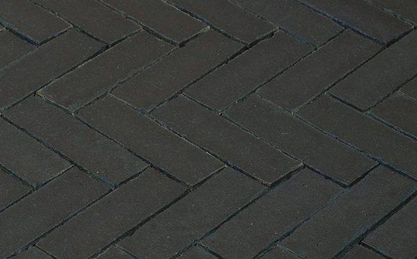 Клинкерная тротуарная брусчатка Penter Nero wasserstrich, 200*65*85 мм