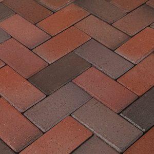Тротуарная клинкерная брусчатка Penter Artland rotblaubunt PPK, 240*118*52 мм