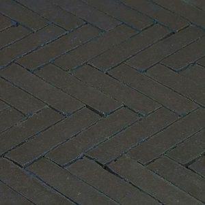 Клинкерная тротуарная брусчатка Penter Nero wasserstrich tumbled, 200*50*85 мм