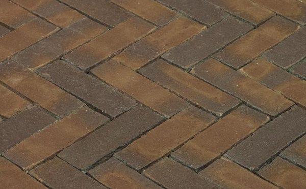 Клинкерная тротуарная брусчатка Penter Oliva wasserstrich, 200*65*85 мм