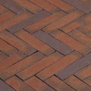 Клинкерная тротуарная брусчатка Penter Rosa wasserstrich, 200*50*85 мм