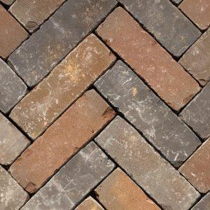 Клинкерная тротуарная брусчатка Penter Zenneton mix wasserstrich tumbled, 200*65*65 мм