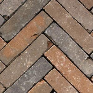 Клинкерная тротуарная брусчатка Penter Zenneton mix wasserstrich tumbled, 200*50*65 мм