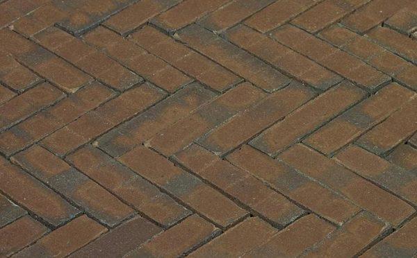 Клинкерная тротуарная брусчатка Penter Oliva wasserstrich, 200*50*85 мм