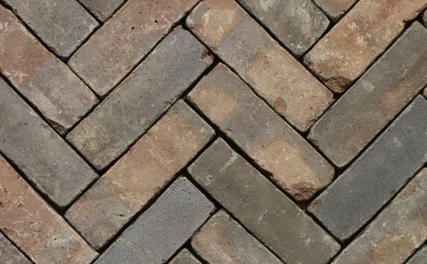 Клинкерная тротуарная брусчатка Penter Oliva wasserstrich tumbled, 200*65*85 мм