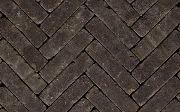Клинкерная тротуарная брусчатка Penter Nero tumbled, 200*50*85 мм