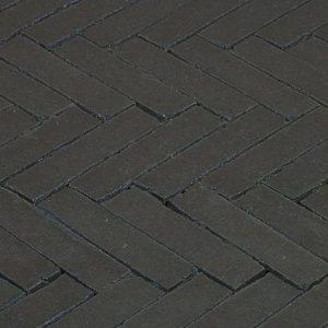 Клинкерная тротуарная брусчатка Penter Nero wasserstrich, 200*50*85 мм