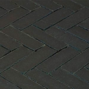 Клинкерная тротуарная брусчатка Penter Nero wasserstrich tumbled, 200*65*85 мм