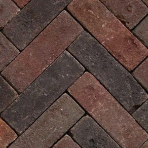 Клинкерная тротуарная брусчатка Penter Megaton mix tumbled, 200*65*65 мм