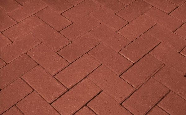 Тротуарная клинкерная брусчатка Penter rot без фаски, 240*118*52 мм