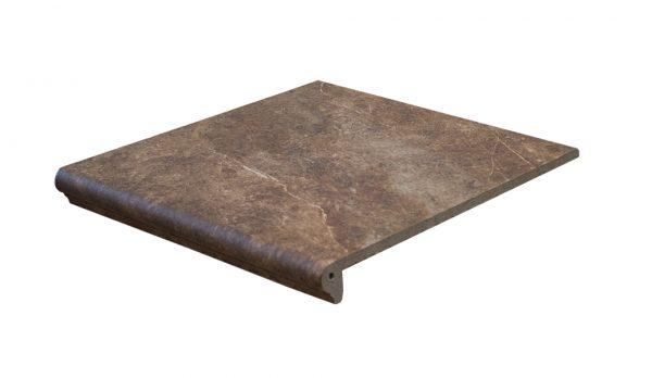 Ступень с капиносом Interbau Abell 271 Красно-коричневый 310x320 мм