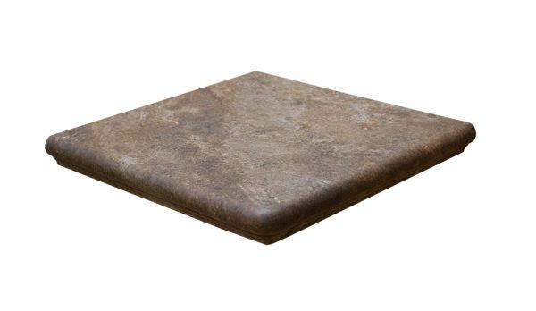 Ступень угловая Interbau Abell 271 Красно-коричневый 320x320x9,5 мм