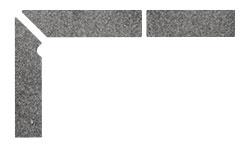 Плинтус для ступеней Interbau Alpen 058 Антрацит, левый, 3 части