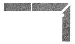 Плинтус для ступеней Interbau Alpen 058 Антрацит, правый, 3 части