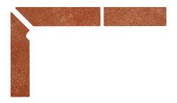 Плинтус для ступеней Interbau Alpen 059 Красная глина, левый, 3 части
