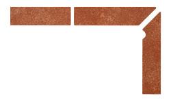 Плинтус для ступеней Interbau Alpen 059 Красная глина, правый, 3 части