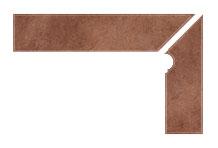 Плинтус для ступеней Interbau Nature Art 114 Cognac Braun, правый, 2 части