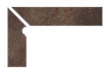 Плинтус для ступеней Interbau Nature Art 118 Lava Schwarz, левый, 2 части