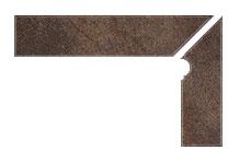 Плинтус для ступеней Interbau Nature Art 118 Lava Schwarz, правый, 2 части