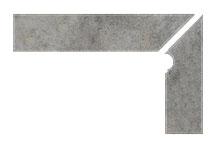 Плинтус для ступеней Interbau Nature Art 119 Quarz Grau, правый, 2 части