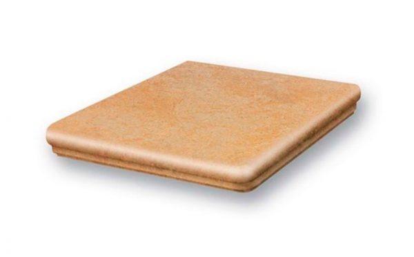 Клинкерная ступень угловая флорентинер Stroeher Euramic Cavar E541 facello, 345x345x12 мм