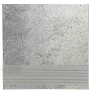 Клинкерная плитка для ступени с насечкой Stroeher Euramic Cadra E522 nuba 300x294x8 мм
