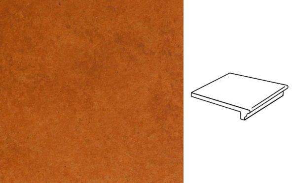 Клинкерная ступень флорентинер Stroeher Euramic Cadra E524 male 340x294x11 мм