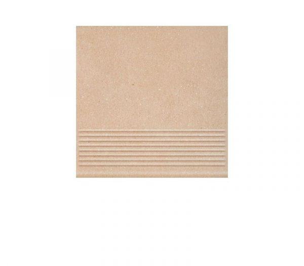 Фронтальная клинкерная ступень простая Paradyz Mattone Sabbia Beige, 300*300*11 мм